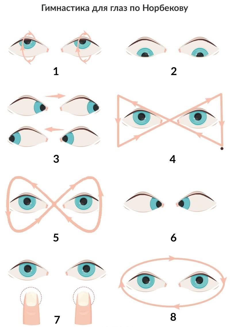 Гимнастика для глаз по норбекову - опыт и техника выполнения