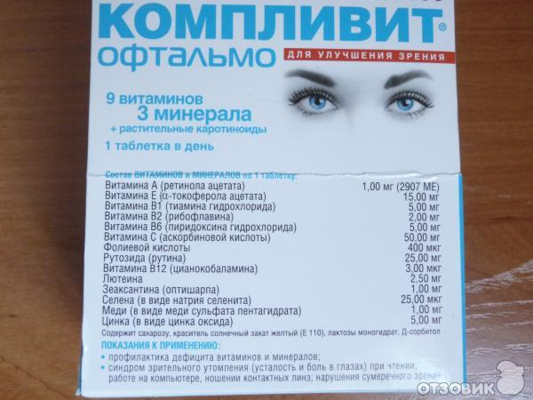 Компливит офтальмо: инструкция по применению, цена, отзывы
