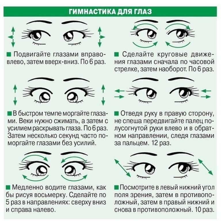Гимнастика для глаз при работе с компьютером: полезная для зрения зарядка на рабочем месте
