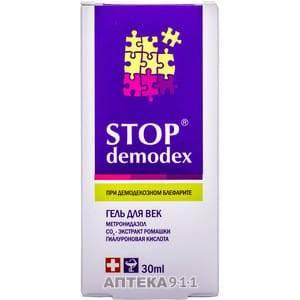 Стоп демодекс (stop demodex), гель для век 30 мл инструкция по применению: показания и противопоказания, побочные действия
