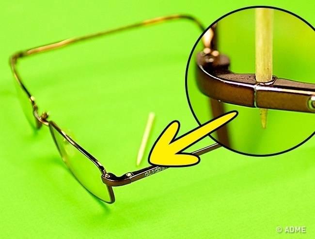 Как починить сломанные очки