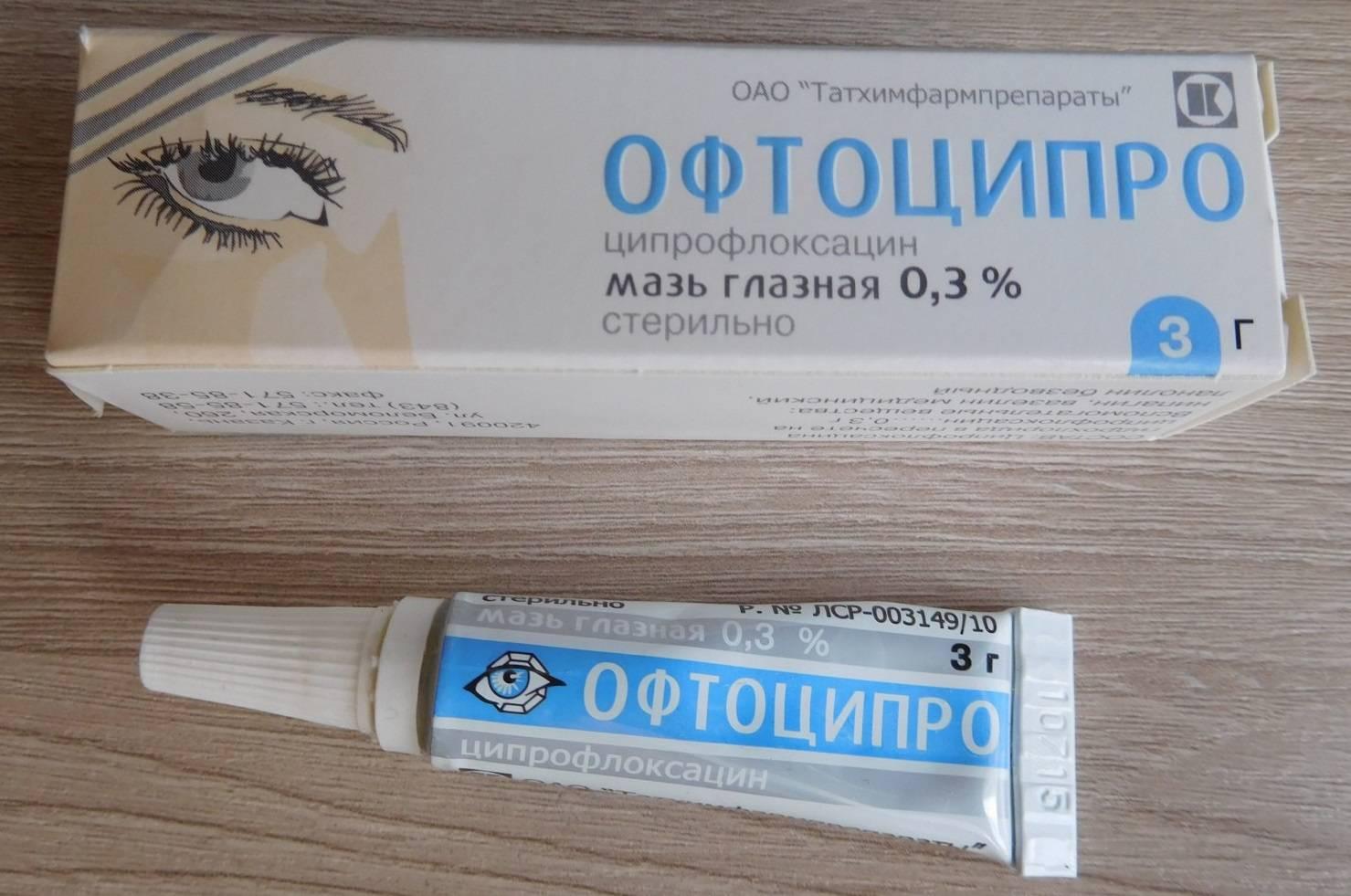 Офтоципро - глазная мазь и капли, инструкция по применению, аналоги, отзывы