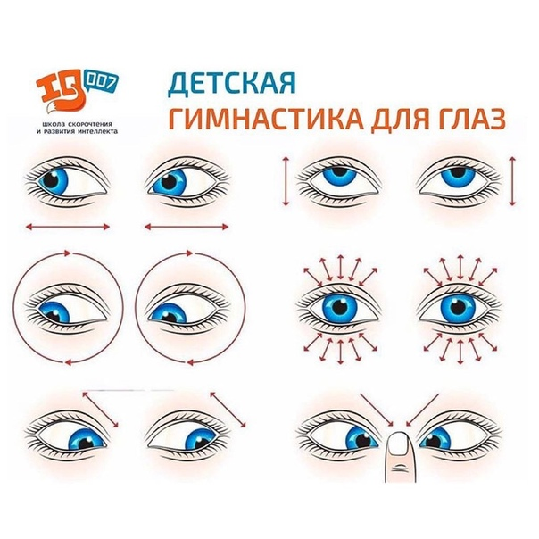 Детская гимнастика для глаз