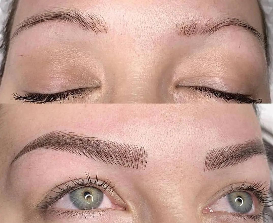 Татуаж бровей волосковым методом фото до и после