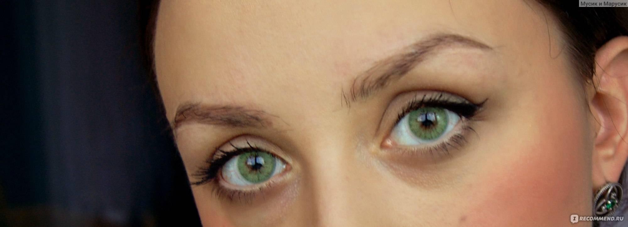 Карие линзы на зеленые глаза - на карих, на серые