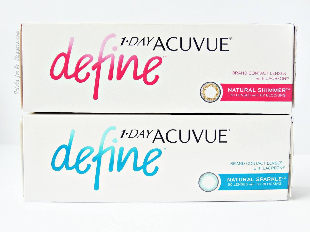 Цветные линзы акувью дефайн: обзор моделей 1 day acuvue define