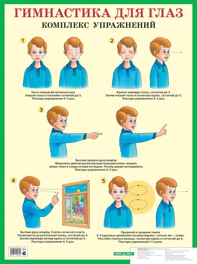 Гимнастика для глаз для детей: как правильно проводить занятия