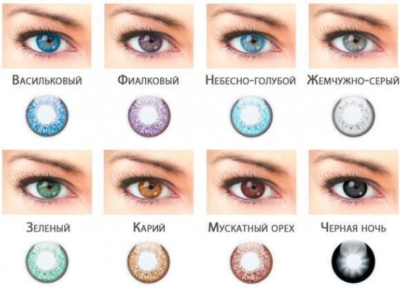 Какие цветные линзы подойдут для карих глаз?