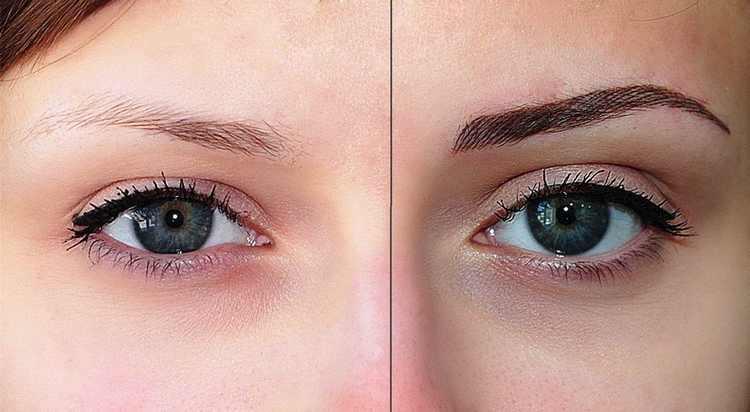 Волосковый татуаж бровей - фото до и после и преимущества метода