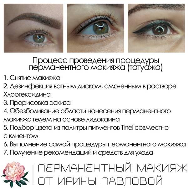 Уход за перманентным макияжем бровей: памятка и рекомендации