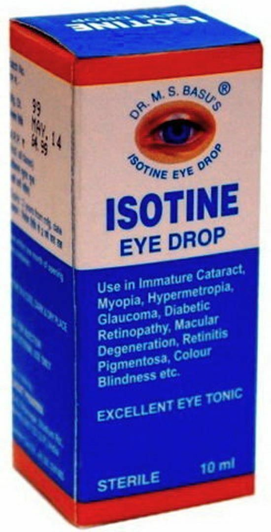 Isotine - глазные капли: инструкция, противопоказания