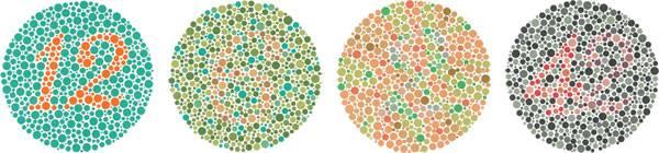 Какие есть тесты на различие цветов