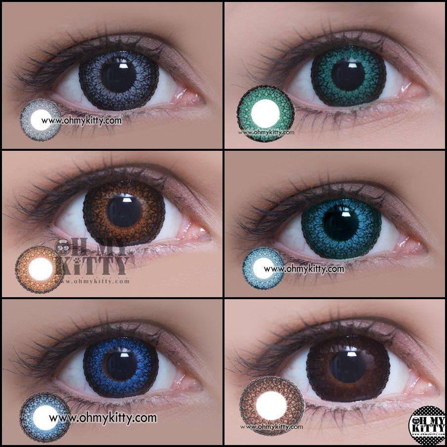 Подбор цветных линз для голубых, карих, зеленых, серых глаз