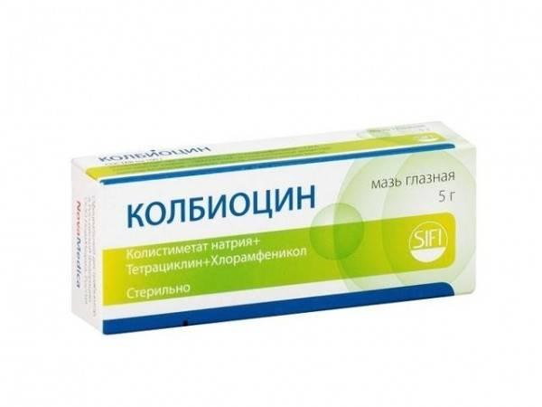Мазь колбиоцин помогает справиться с инфекцией глаз