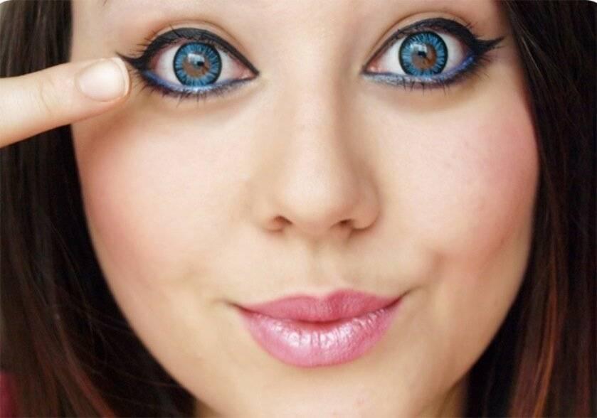 Линзы, увеличивающие глаза - обзор. описание, инструкции, отзывы