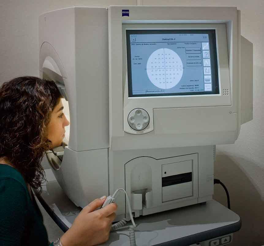 Как проводится периметрия глаза — диагностика и исследование полей зрения человека