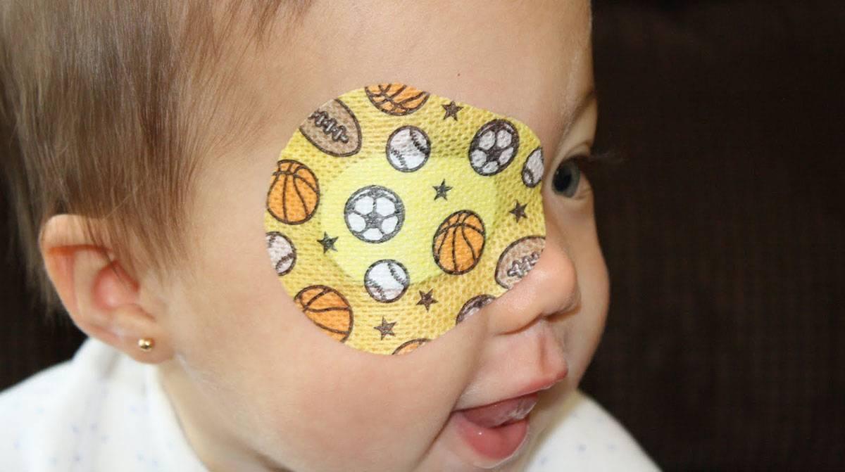 Как сшить повязку на глаз при косоглазии