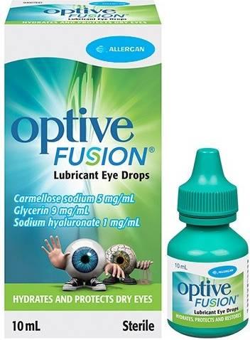 Глазные капли оптив - препарат-заменитель естественной слезы