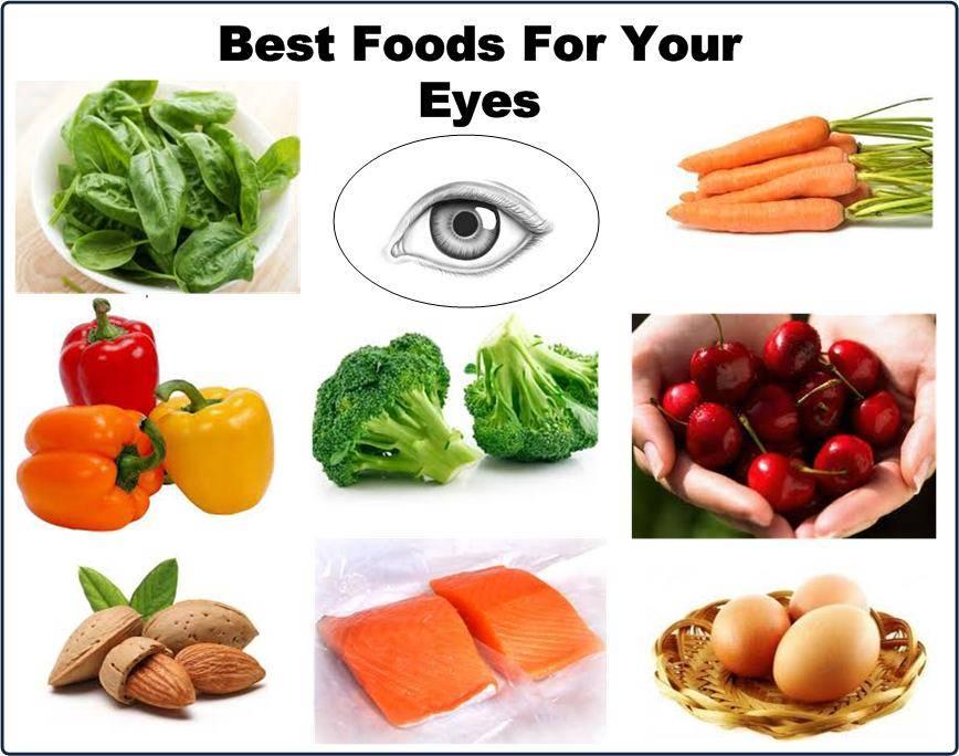 Продукты, богатые витаминами, для улучшения зрения