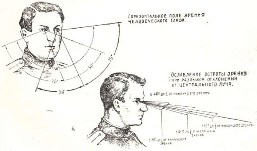Угол зрения человека и исследование полей зрения и их выпадение