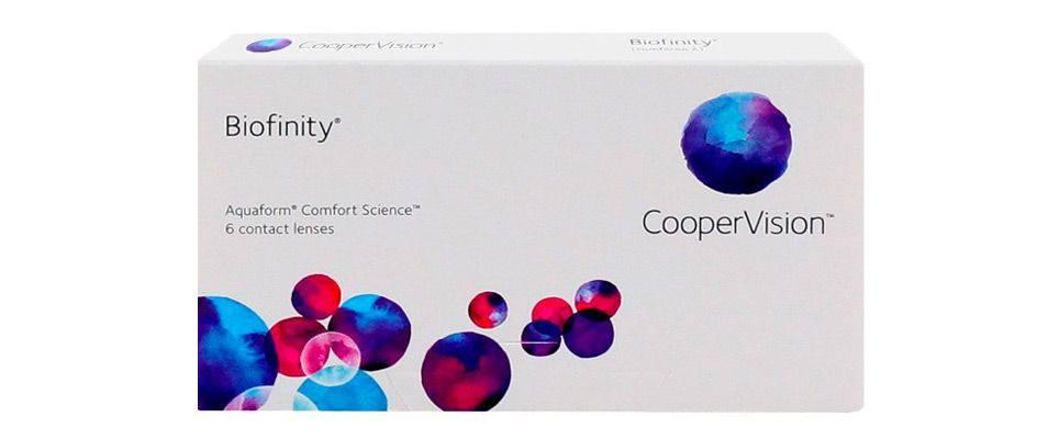На обзоре контактные линзы biofinity cooper vision: отзывы покупателей и особенности модели
