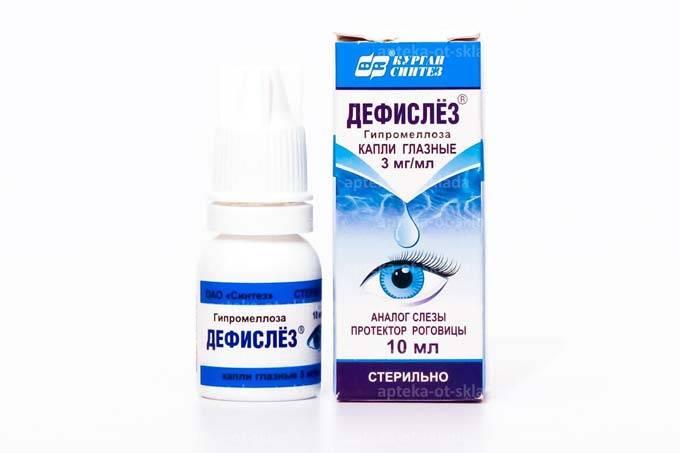 Глазные капли дефислез: состав, показания, инструкция, цена