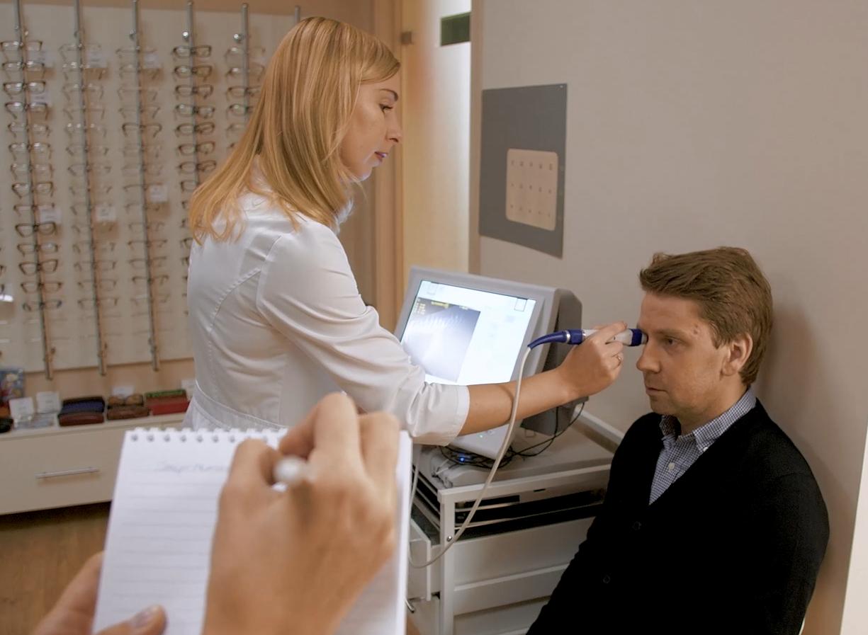 Эхобиометрия органов зрения: подготовка и обследование