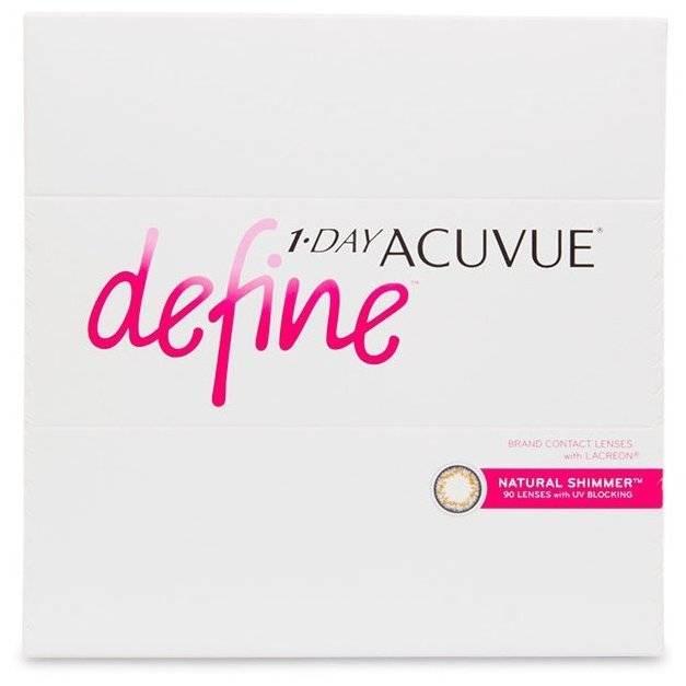 Контактные линзы johnson & johnson 1-day acuvue define