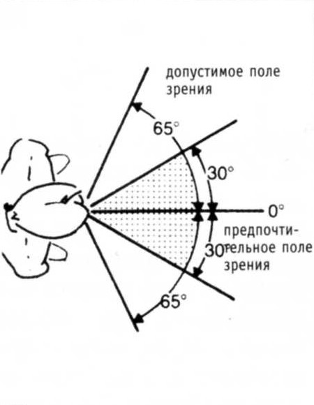 Угол зрения (поле зрения) глаза человека