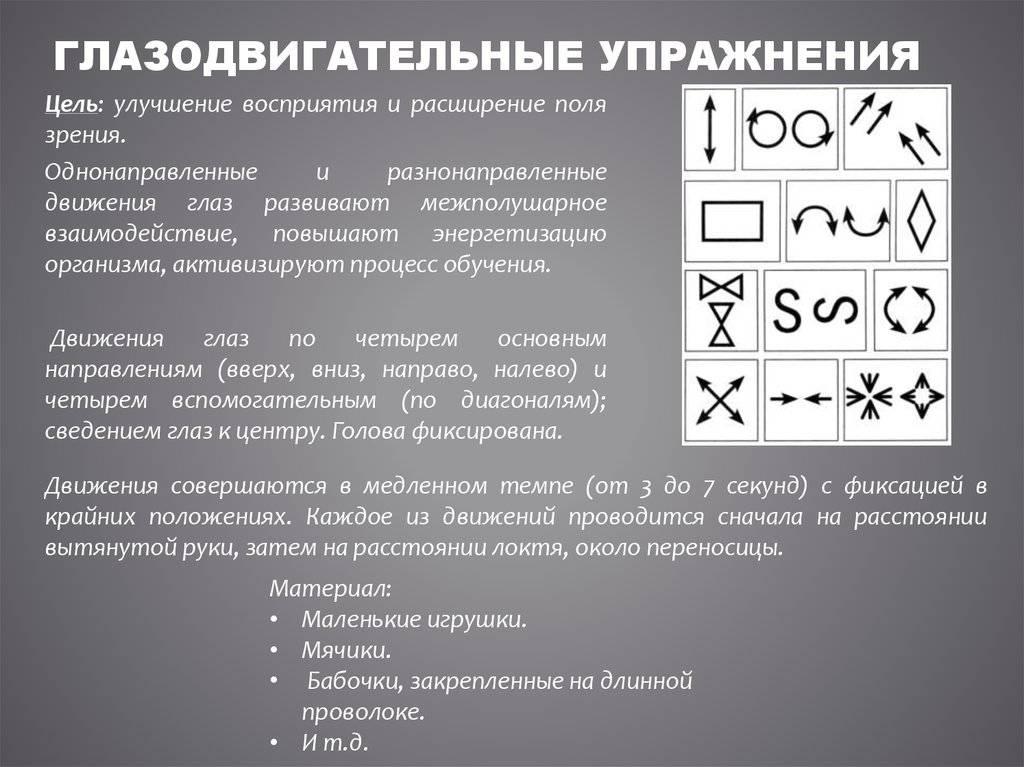 Глазодвигательные упражнения список лучших - мед портал tvoiamedkarta.ru