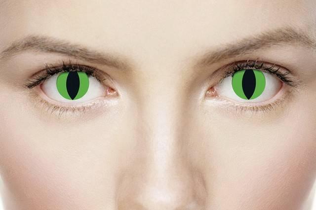 Карнавальные линзы: что это такое, когда применяются цветные маскарадные контактные изделия для глаз, как использовать, каковы противопоказания?