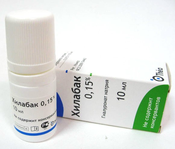 Хилабак - свойства глазных капель, показания и противопоказания