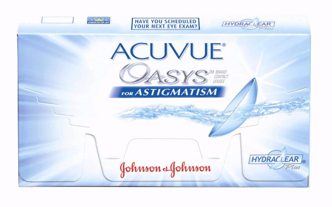 Акувью оазис астигматизм: как должны быть расположены торические отметки acuvue oasys astigmatism, астигматические линзы