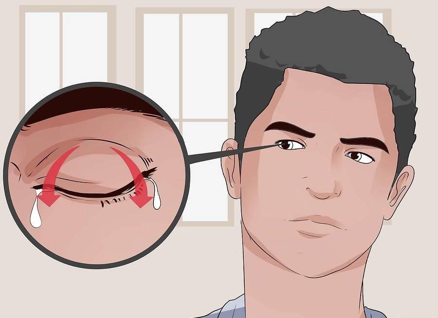 Как вытащить соринку из глаза языком. как убрать из глаза соринку