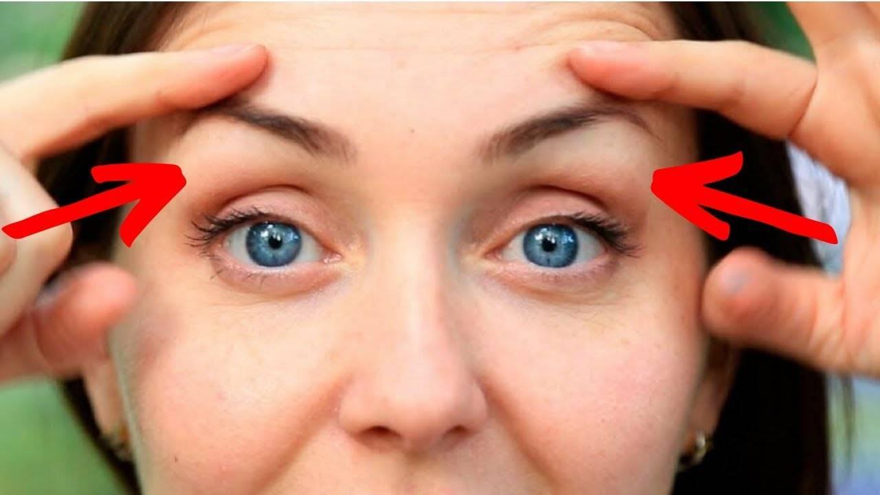 Как приподнять нависшее веко и убрать отеки с глаз  в домашних условиях. | inwomen