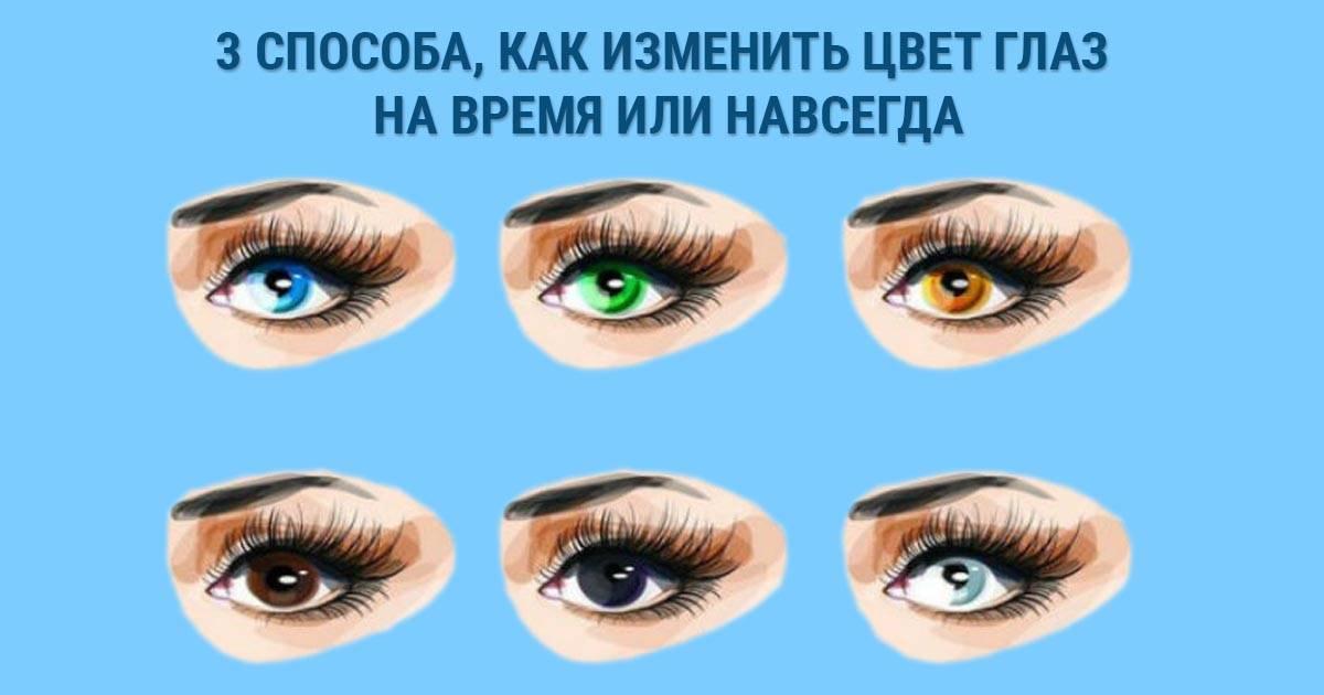 Как сделать глаза темнее. как изменить цвет глаз - новая медицина