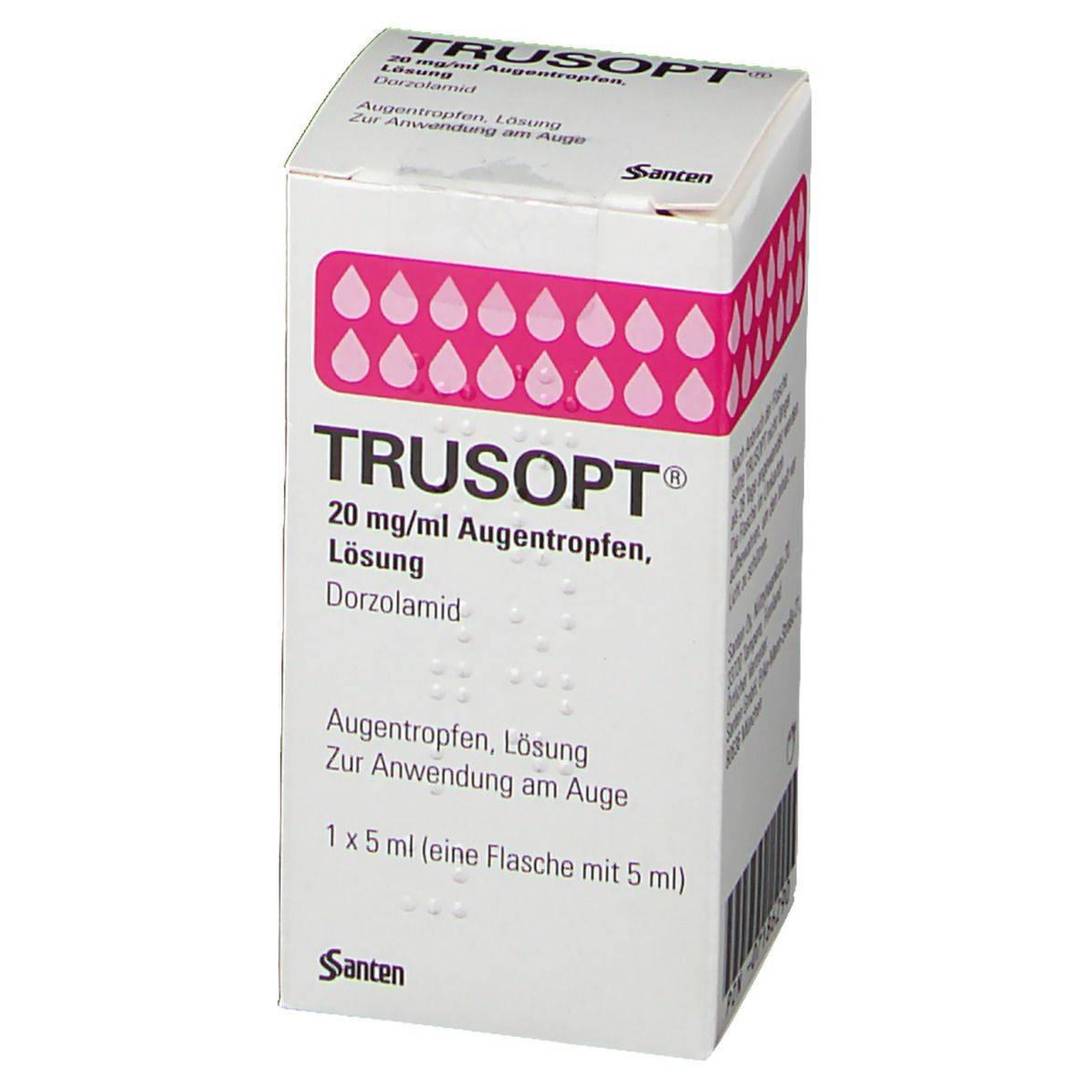 Трусопт – капли для лечения глаукомы