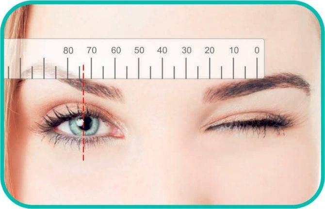 Как измерить межзрачковое (межцентровое) расстояние глаз самостоятельно, как измерить расстояние между зрачками для очков