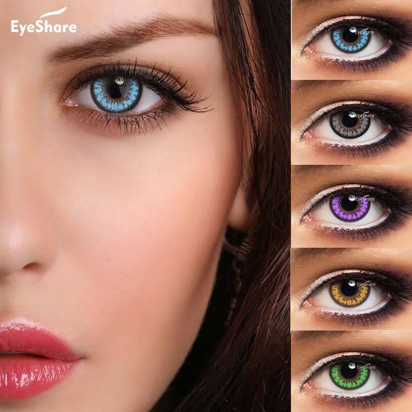 На карие глаза голубые линзы: будет ли смотреться естественно