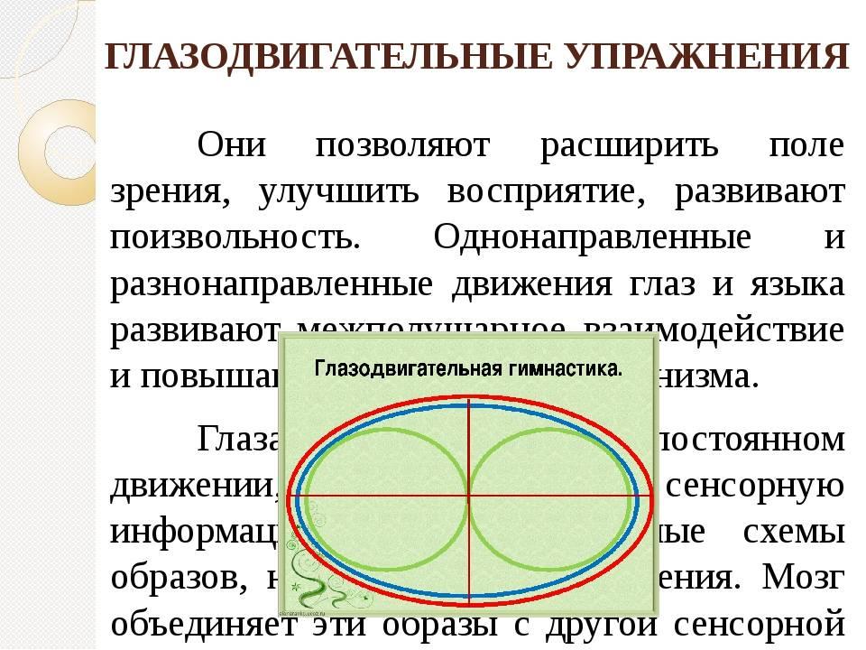 Глазодвигательные упражнения список лучших - 103doctor.ru