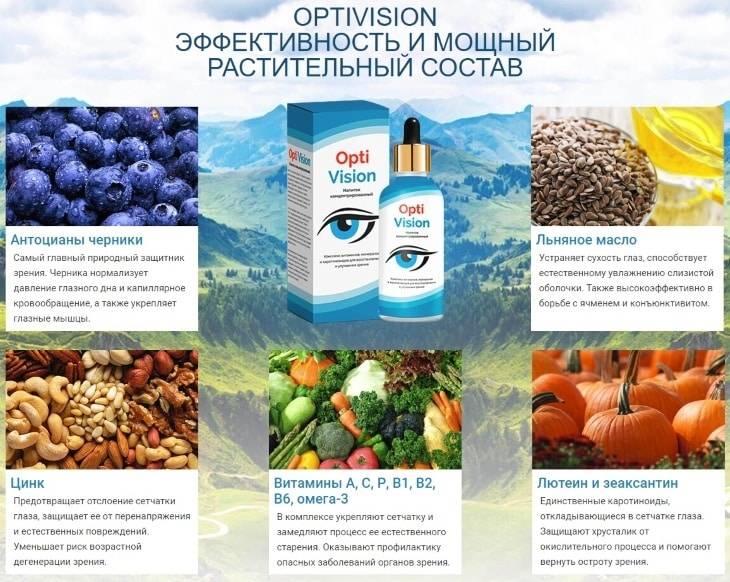 Optivision капли для глаз при любых заболеваниях