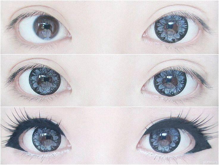 Линзы, увеличивающие глаза: что это, фото до и после, большие размеры для увеличения, названия контактных изделий, как называются