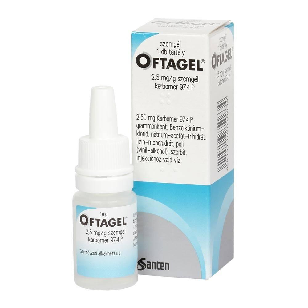 «офтагель» (глазные капли): аналоги, инструкция по применению, цена