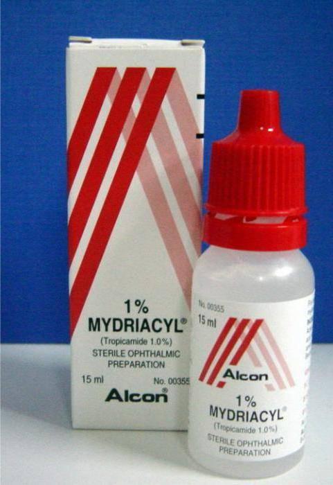 Мидриацил - капли для расширения зрачка, показания, аналоги, цена