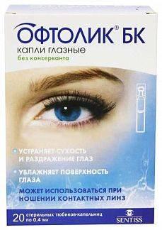 Инструкция по применению глазных капель офтолик