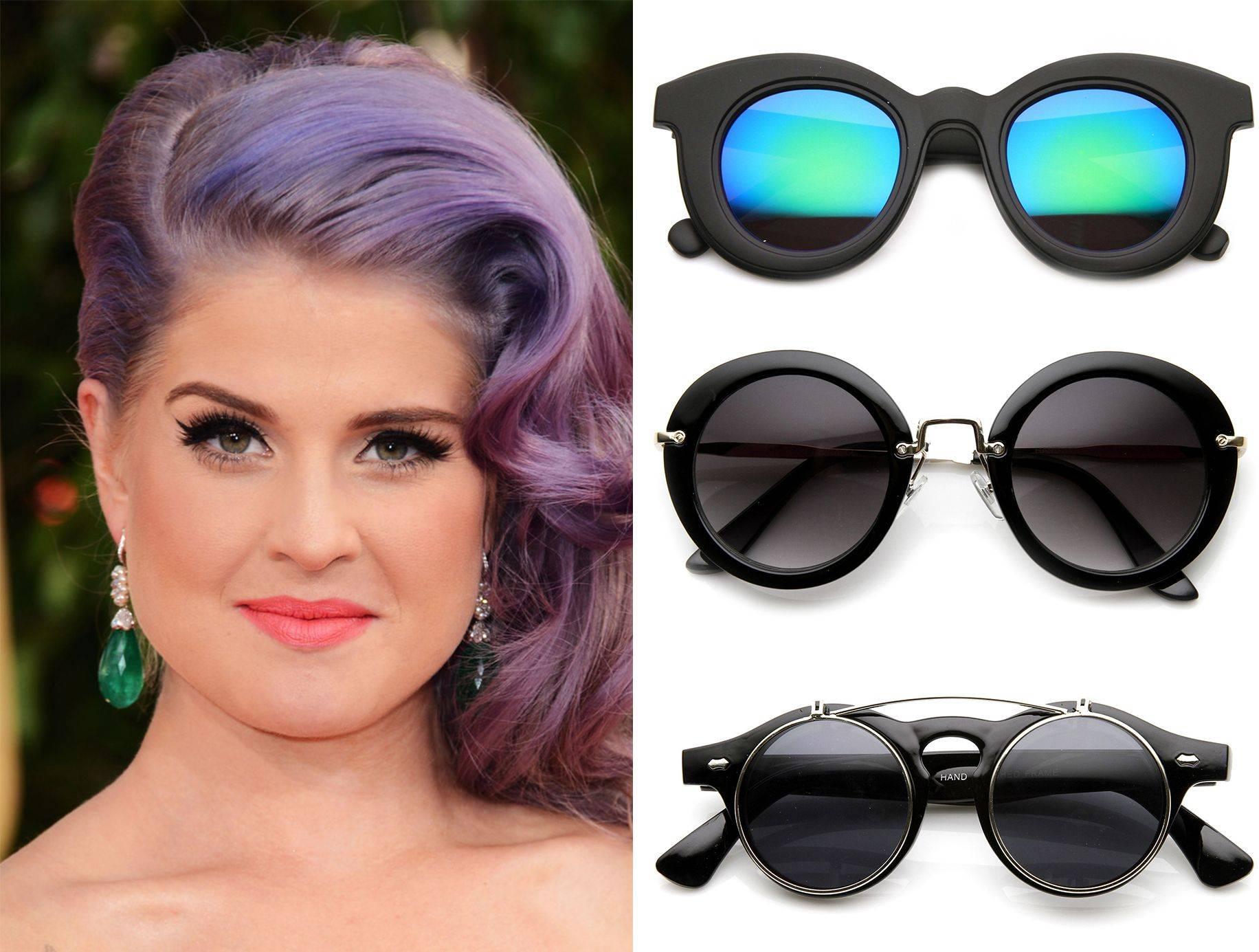 Как правильно подобрать солнечные женские очки на круглое лицо— советы и фото