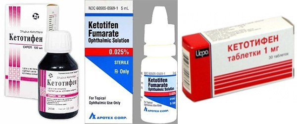Кетотифен капли глазные - инструкция, цена, отзывы