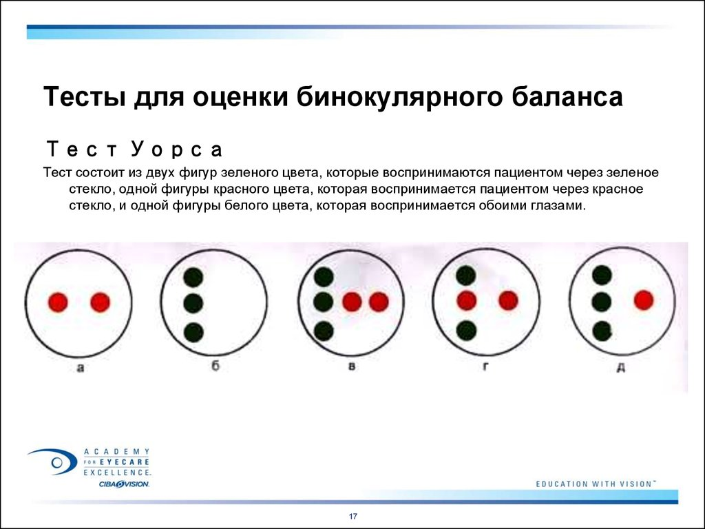 Диагностика бинокулярного зрения — офтальмология