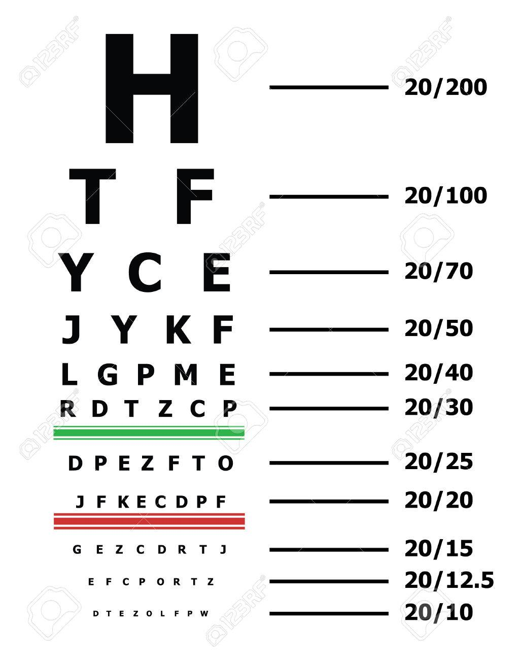 Таблица снеллена английская таблица проверки зрения