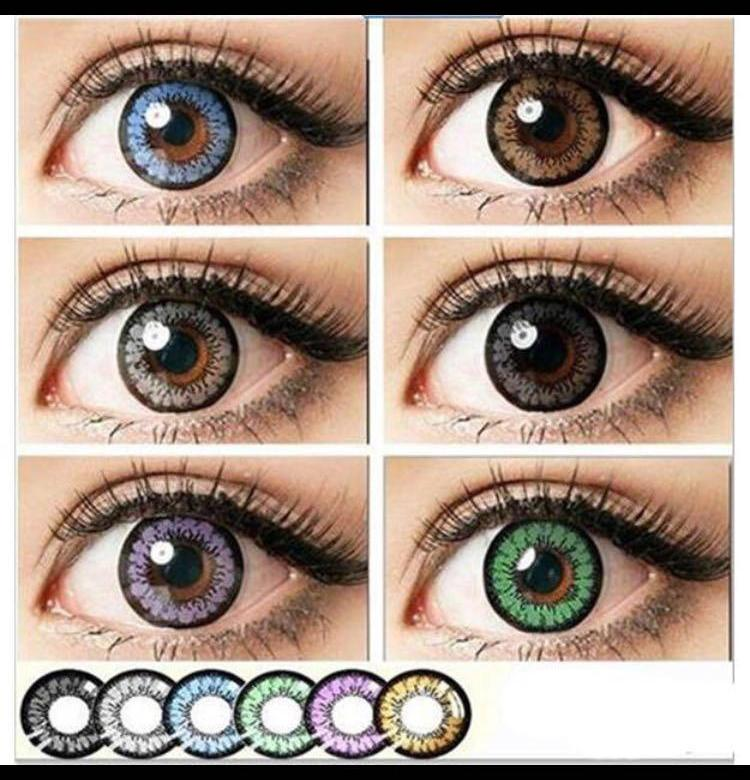 Цветные линзы для карих глаз: голубые, серые, зеленые и как подобрать